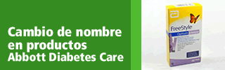 Cambio de nombre en productos Abbott Diabetes Care